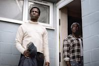 """<p>A couple find refuge in England from a war in Sudan. However, their new home isn't so welcoming as they become tormented by an evil force. </p> <p><a href=""""https://www.netflix.com/title/81231197"""" class=""""link rapid-noclick-resp"""" rel=""""nofollow noopener"""" target=""""_blank"""" data-ylk=""""slk:Watch His House on Netflix now."""">Watch <strong>His House</strong> on Netflix now.</a></p>"""