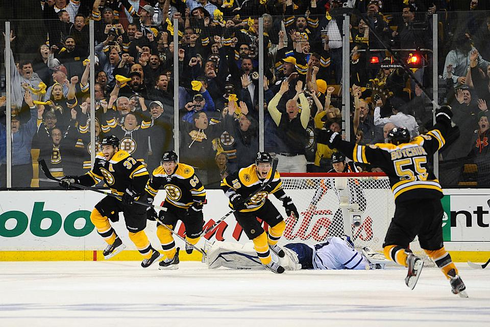 The Boston Bruins have been at the forefront of too many Maple Leafs playoff heartbreaks in recent years. (Getty Images)