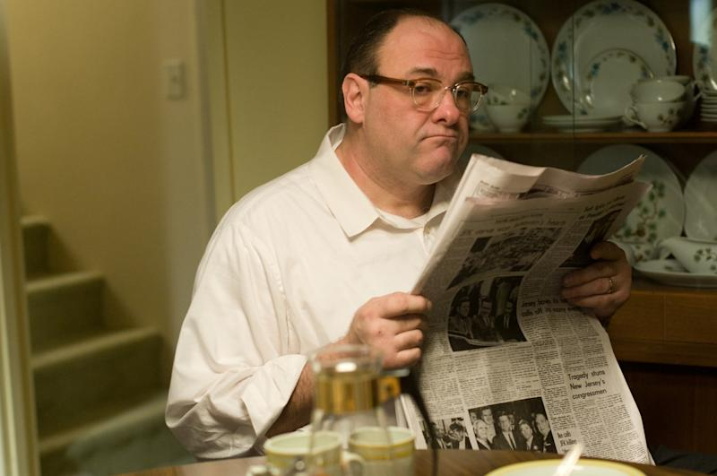 """FILE - This publicity film image released by Paramount Vantage shows James Gandolfini, as Pat, in a scene from the film """"Not Fade Away."""" In the five years since """"The Sopranos"""" ended, Gandolfini has eschewed the spotlight, instead disappearing into character actor performances such as this one. These roles, while they may lack the iconography of Tony Soprano, have only further proved the actor's wide-ranging talent. (AP Photo/Paramount Vantage, File)"""