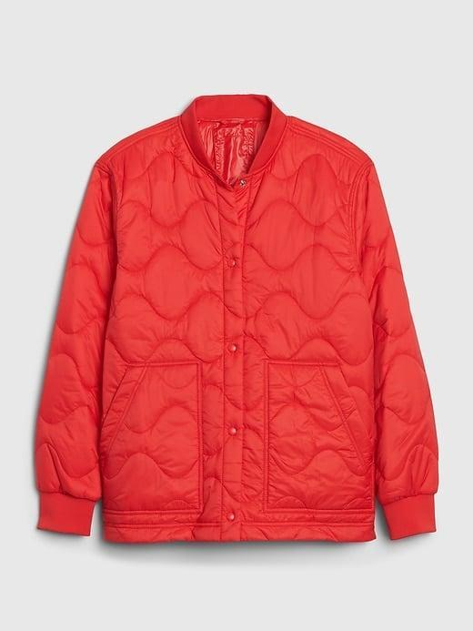 <p>A red jacket is always a show stopper and Valentine's Day is the perfect day to debut one. Try this <span>Gap Upcycled Quilted Puffer Jacket</span> ($49, originally $98) for a chic quilted style that's sustainably made!</p>