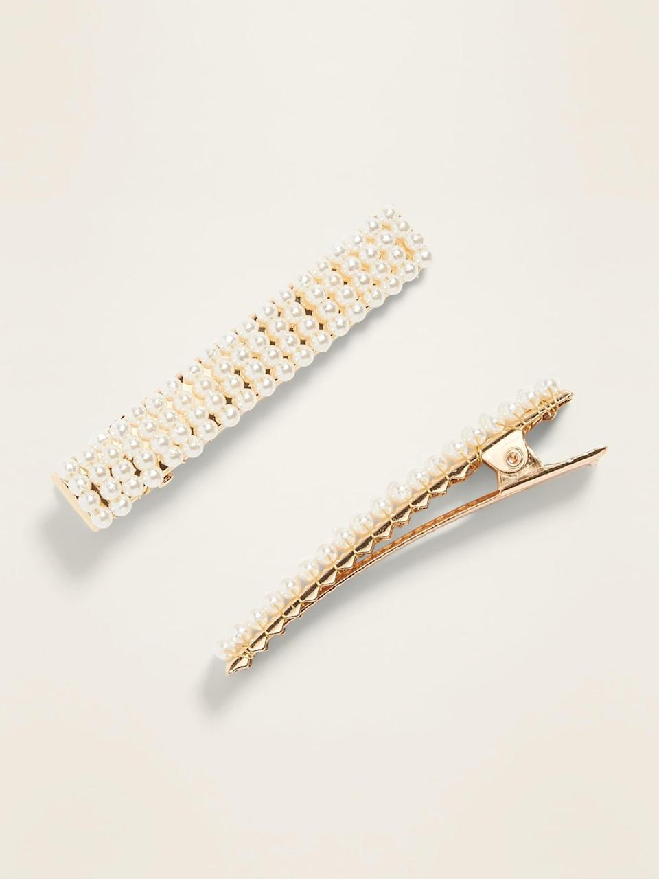 <p>These <span>Beaded Hair-Clips</span> ($7, originally $8) look so much more expensive.</p>