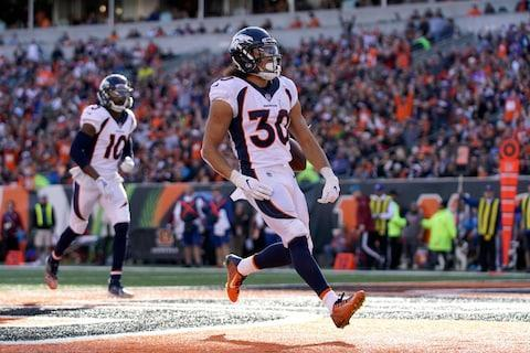 <span>Phillip Lindsay scored two more touchdowns as the Broncos beat the Bengals</span> <span>Credit: Aaron Doster/USA TODAY </span>