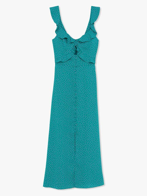 """<p>Kate Spade New York Poolside Dot Dress, $448, <a href=""""https://rstyle.me/+R7m_EllAXr8rdlMOqjag8A"""" rel=""""nofollow noopener"""" target=""""_blank"""" data-ylk=""""slk:available here"""" class=""""link rapid-noclick-resp"""">available here</a>.</p>"""