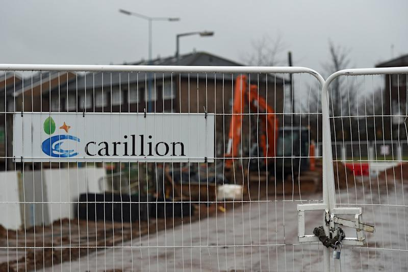 Construction firm Carillion went into liquidation on Monday 15 January: PA