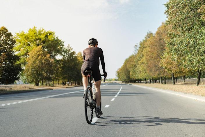 """<p>Poor <a href=""""https://www.bicycling.com/bikes-gear/a24787969/best-bike-saddles/"""" rel=""""nofollow noopener"""" target=""""_blank"""" data-ylk=""""slk:saddle fit"""" class=""""link rapid-noclick-resp"""">saddle fit</a> can result in stress, pain, and injury. To perform a quick check, place your pedals in the 6-o'clock and 12-o'clock positions and rest your heel on the lower pedal, says pro cyclist Sara Bresnick, also a fit specialist and owner of Pedal Power Training Solutions in Medford, Massachusetts. """"Your leg should be straight, which equates to a 20- to 25-degree knee bend when clipped in,"""" she says. When both feet are positioned parallel to the floor (3 o'clock and 9 o'clock), the forward knee should be over the ball of your foot.</p><p>""""As a quick rule of thumb, if the front of your knee hurts, try raising the saddle a bit or moving it back in relation to the handlebars. If the back of your knee hurts, try lowering the saddle a bit or moving it forward a bit in relation to the handlebars,"""" Bresnick says. """"Remember, even moving millimeters can make a big impact, so don't move your settings too much at one time."""" If your knees (or anything else for that matter) hurt despite following a <a href=""""https://www.bicycling.com/training/a20024513/training-plan/"""" rel=""""nofollow noopener"""" target=""""_blank"""" data-ylk=""""slk:smart riding schedule"""" class=""""link rapid-noclick-resp"""">smart riding schedule</a>, have your bike fit dialed by a professional.</p><p><em>[Related: <a href=""""https://www.bicycling.com/bikes-gear/a20022857/bike-fit-saddle-height/#:~:text=Measure%20from%20the%20floor%20to,seat%2C%20along%20the%20seat%20tube."""" rel=""""nofollow noopener"""" target=""""_blank"""" data-ylk=""""slk:How High Should My Seat Be?"""" class=""""link rapid-noclick-resp"""">How High Should My Seat Be?</a>]</em></p>"""