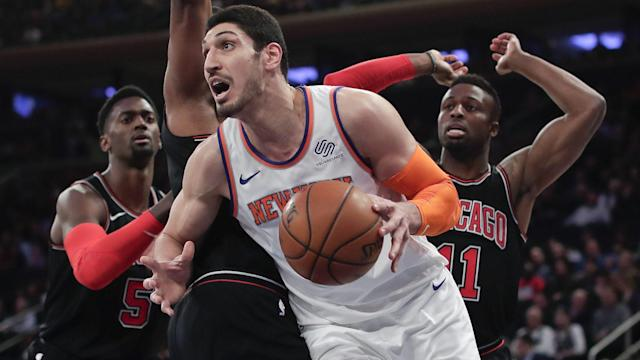 "<a class=""link rapid-noclick-resp"" href=""/nba/players/4899/"" data-ylk=""slk:Enes Kanter"">Enes Kanter</a> averaged 14.1 points, 11 rebounds and 1.5 assists last season. (AP)"