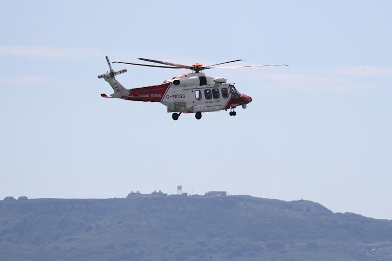 A file picture of a HM Coastguard helicopter: PA