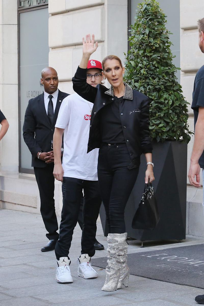 In July, Celine Dion wore the boots in Paris.