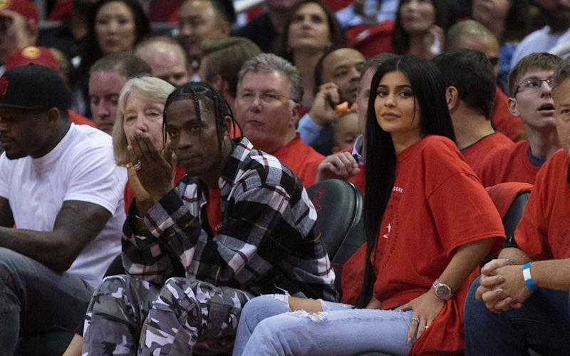 Houston rapper Travis Scott and Kylie Jenner - Getty Images North America