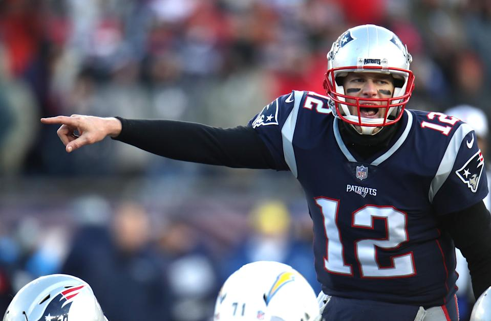 Tom Brady doesn't sound like he needs a pep talk to get motivated for his eighth straight AFC title game. (Getty Images)