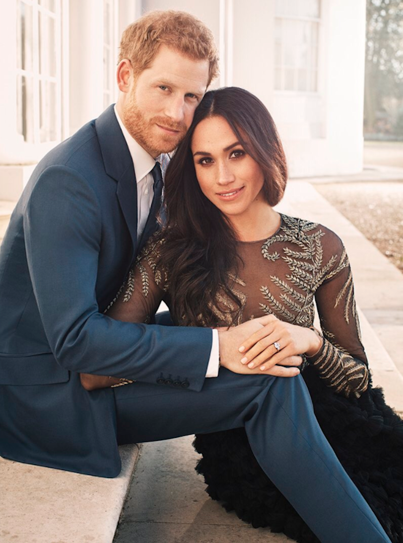 harry meghan engagement photo