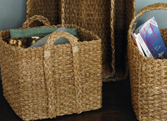 """<p>Stop fumbling in the foyer with a mess of shoes, umbrellas, and magazines. Instead, tuck them into cloth baskets or wicker bins placed behind the front door. Use a handheld vacuum to usher away dust and other uninvited guests from the <a href=""""http://www.bobvila.com/slideshow/14-ultrafunctional-ideas-to-steal-for-your-entryway-49387?bv=yahoo"""" title=""""entryway ideas"""">entryway</a>.</p><p><b>Related: <a href=""""http://www.bobvila.com/slideshow/7-things-every-entryway-needs-48545?bv=yahoo"""" title=""""http://www.bobvila.com/slideshow/7-things-every-entryway-needs-48545"""">7 Things Every Entryway Needs</a> </b> </p><p>Source: Bob Vila</p>"""
