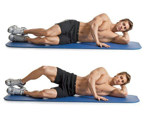 <p>This exercise targets your hip abductors, primarily a muscle called the gluteus medius. This muscle assists your largest butt muscle—your gluteus maximus—in raising your thigh out to the side. It also rotates your thigh outward when your leg is straight, and inward when your hip is bent. </p><p>As the name suggests, think of a clamshell opening as you do the exercise. Your glute should do all the work, so keep the rest of your body completely still as you left and lower your leg. </p><p>Lie on your side with your knees bent 90 degrees and your heels together and in line with your butt. Open your knees as far as you can, without rotating your pelvis or back. Pause; return to the starting position. <br></p>