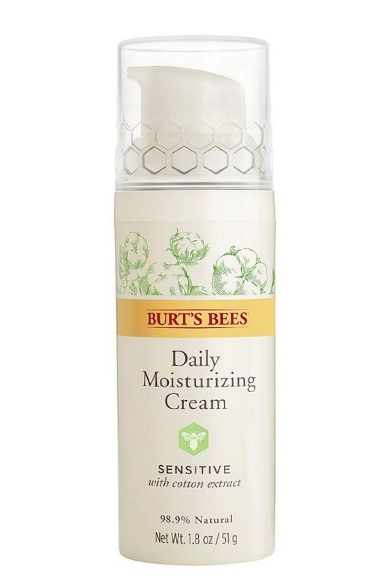 "<p><strong>Burt's Bees</strong></p><p>target.com</p><p><strong>$11.06</strong></p><p><a href=""https://www.target.com/p/burt-s-bees-daily-face-moisturizer-for-sensitive-skin-1-8oz/-/A-13729233"" rel=""nofollow noopener"" target=""_blank"" data-ylk=""slk:Shop Now"" class=""link rapid-noclick-resp"">Shop Now</a></p><p>Don't sleep on this drugstore favorite. Designed for sensitive skin, this soothing formula is unscented, cruelty-free, and certified clean. The best part? It's only $15. </p>"