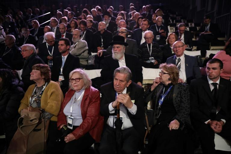 Holocaust survivors and world leaders attended a sombre ceremony in Jerusalem to mark the liberation of the Auschwitz death camp 75 years ago (AFP Photo/Abir SULTAN)