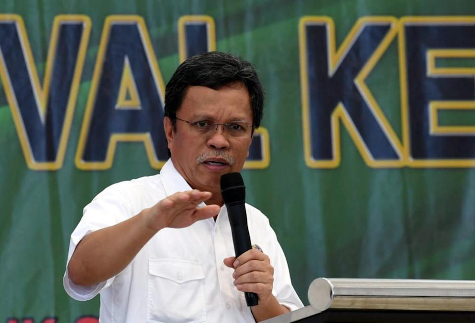 Sabah Chief Minister Datuk Seri Mohd Shafie Apdal denied giving his blessings for the assemblyman's departure. — Bernama pic