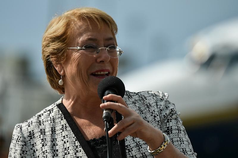 """Chilean President Michelle Bachelet said, """"It cannot be that old prejudices are stronger than love"""""""