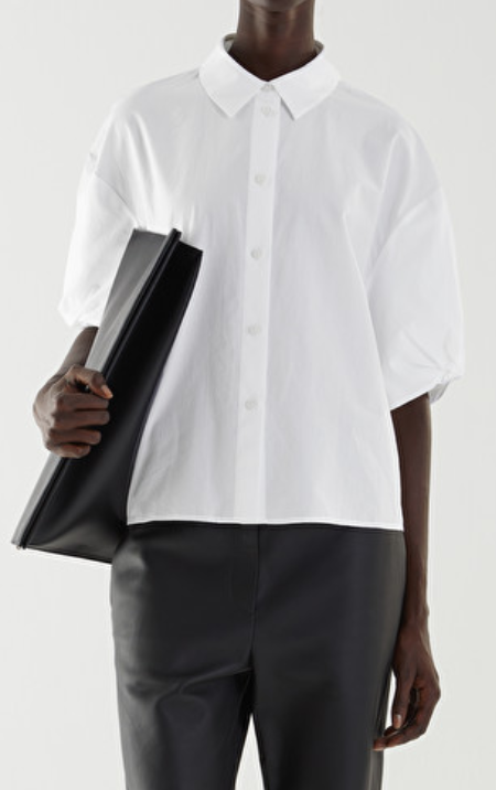 COS Puff Sleeve Boxy Cotton Shirt