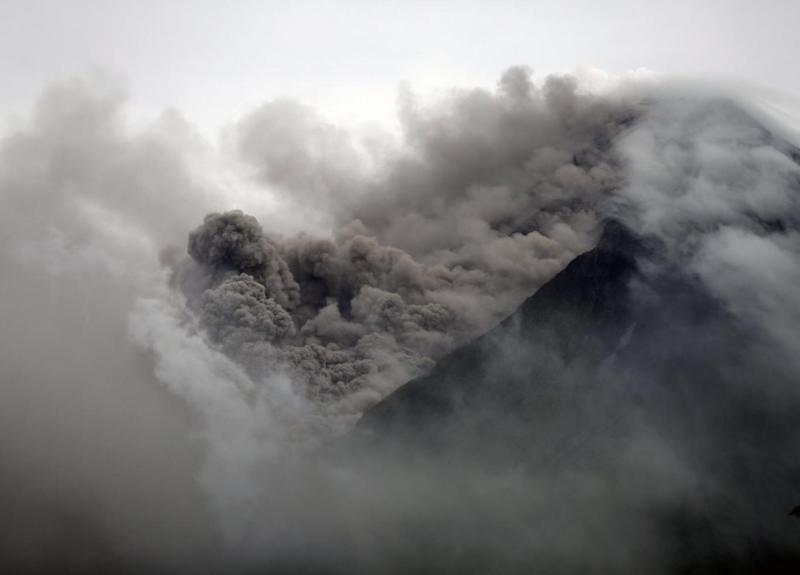 Volcano: Experts have said a fill-scale eruption could happen within weeks (EPA)