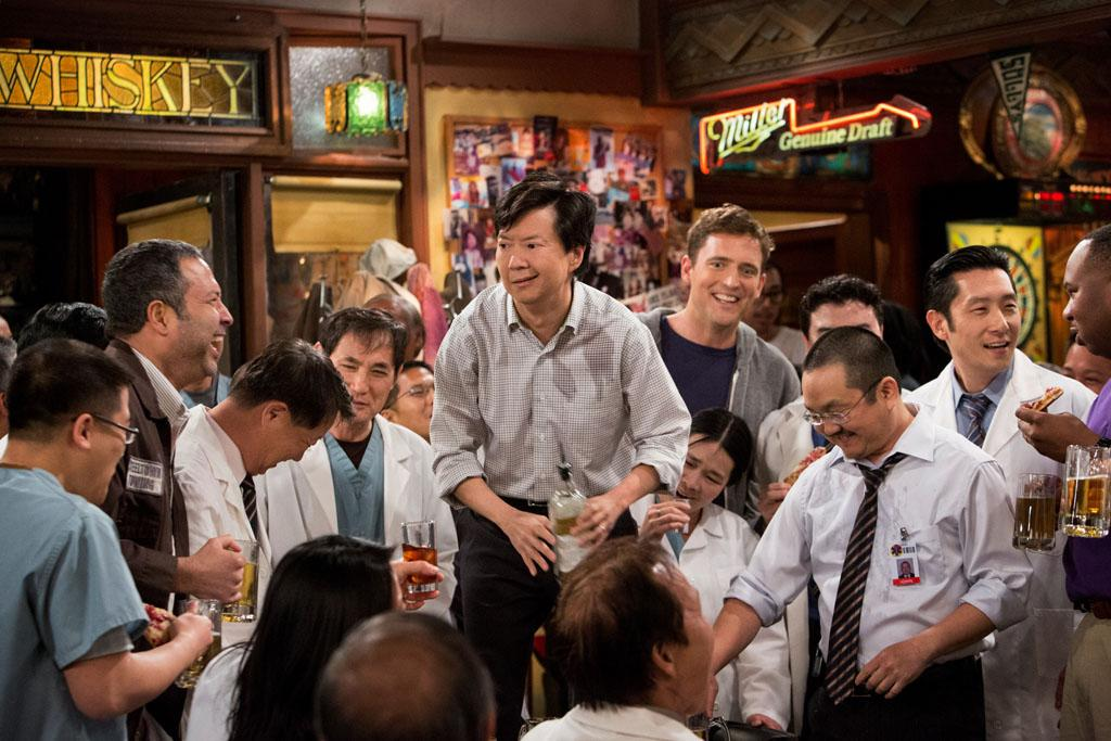 "Ken Jeong and Owen Benjamin in the ""Sullivan & Son"" Season 2 Premiere, ""The Pilot, One More Time."""