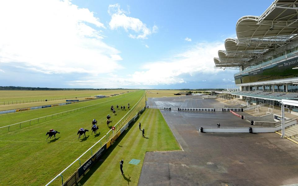 The race was run against a backdrop of empty stands at Newmarket - GETTY IMAGES