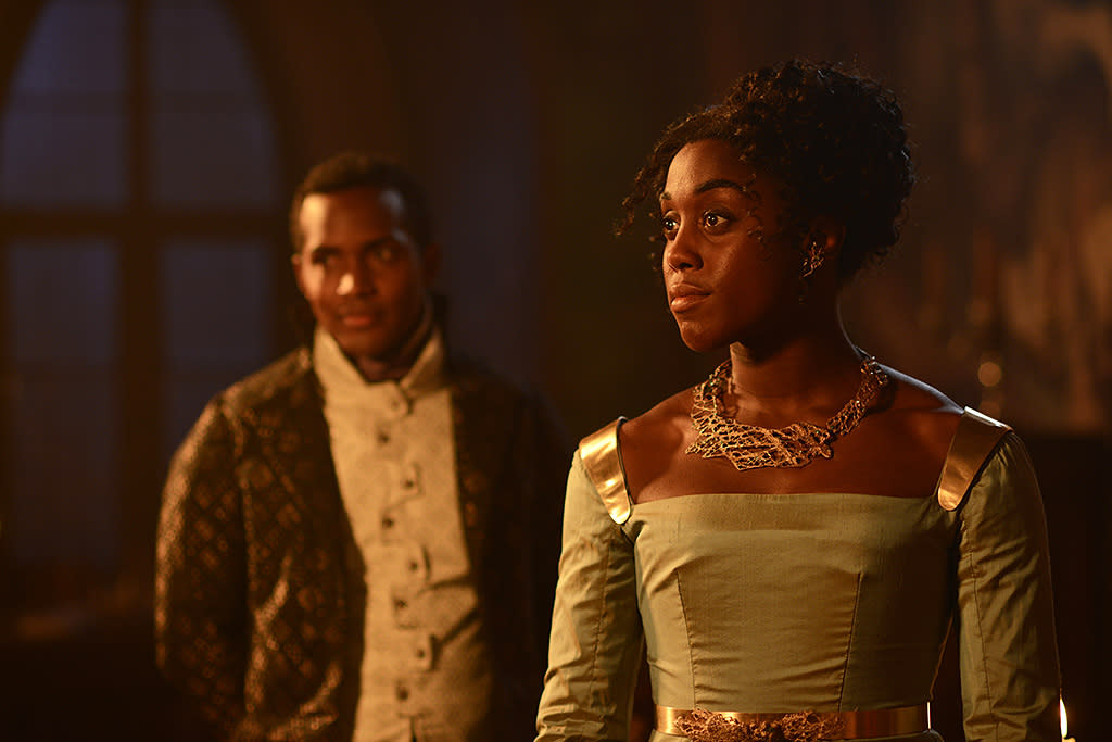 """<p><strong>The 1-Sentence Pitch:</strong> """"It takes place after the beautiful story we know and love, <em>Romeo and Juliet</em>, with the royal family of Verona deciding how to keep the Montagues and Capulets from breaking out into war because of what happened to their children,"""" explains Lashana Lynch, who plays Rosaline Capulet.<br /><br /><strong>What to Expect: </strong>To ensure peace in his city, Prince Escalus (Sterling Sulieman) orders Rosaline, Juliet's cousin, to marry Benvolio Montague (Wade Briggs), Romeo's cousin. But """"they hate each other,"""" Lynch says. Adds Briggs, """"This is a future he doesn't want. <em>But </em>there's a fantastic amount of electricity between these two personalities, and they end up being a lot more to one another than they realized initially."""" And complicating the whole plan is the fact that Rosaline and Prince Escalus are in love. """"It's a classic Shondaland love triangle,"""" Briggs notes.<br /><br /><strong>Modern Love: </strong>Though it's based on Shakespeare, <em>Still Star-Crossed</em> uses contemporary dialogue, and the characters are also updated. """"Rosaline is bold and feisty and fierce, like a modern girl in the 16th century,"""" Lynch says. Of course, Shakespeare's themes — like """"lust and revenge and all of those human desires,"""" says Lynch — are timeless. <em>— Kelly Woo</em><br /><br />(Photo: Jose Haro/ABC) </p>"""