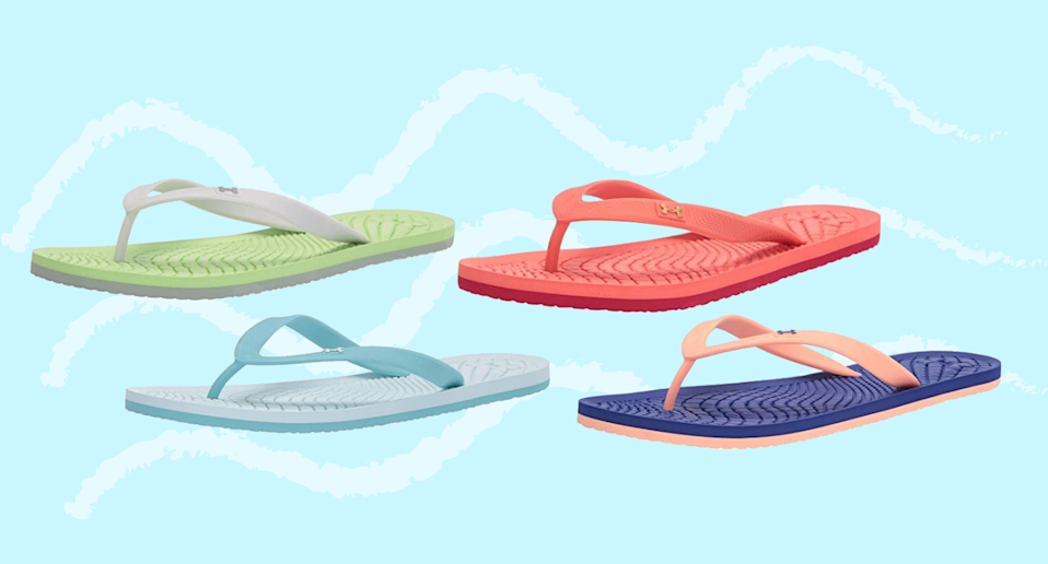 These Under Armour flip-flops are trending on Amazon.