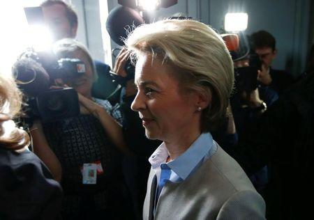 German Defence Minister von der Leyen arrives to face the defence commission of the lower house of parliament Bundestag in Berlin