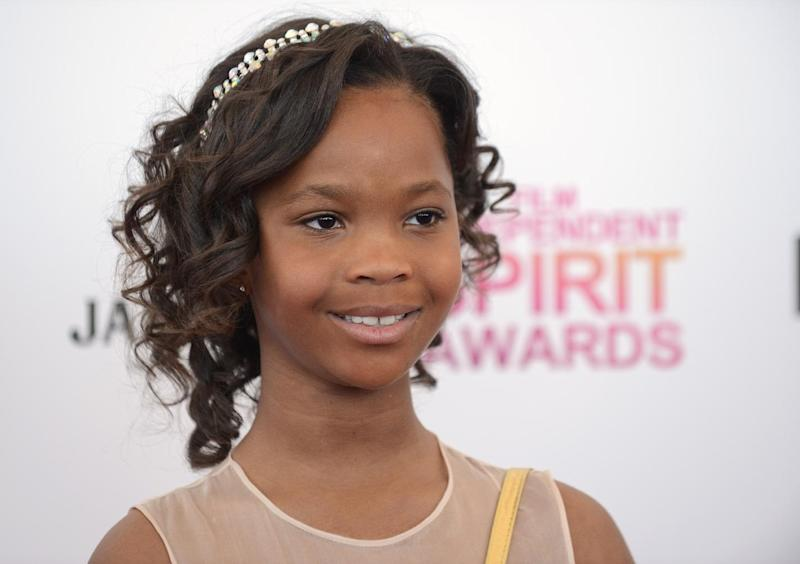 Actress Quvenzhané Wallis arrives at the Independent Spirit Awards on Saturday, Feb. 23, 2013, in Santa Monica, Calif.  (Photo by Jordan Strauss/Invision/AP)