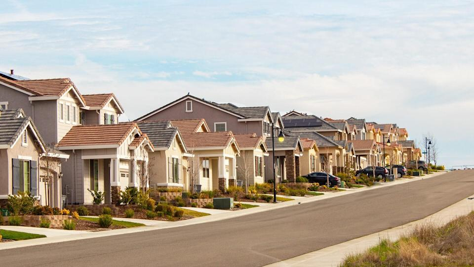 Finished Tract homes in Northern California.