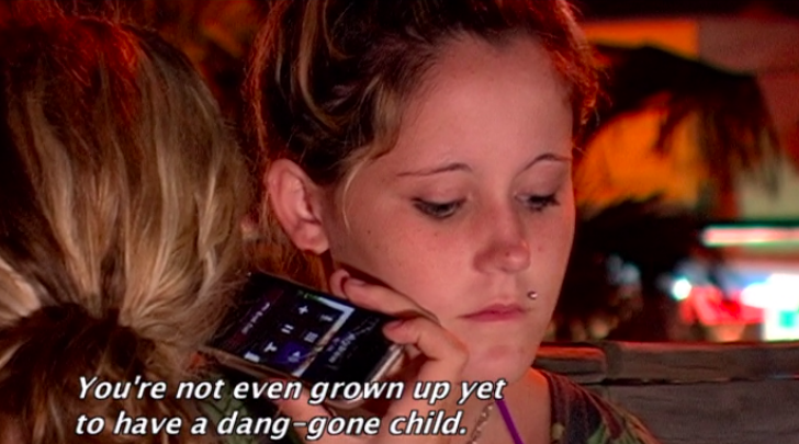 """<p>In response to her ex saying, """"You're not even grown up yet to have a dang-gone child,"""" Jenelle shot back, """"You have no job and you got your license taken away."""" Next!</p>"""