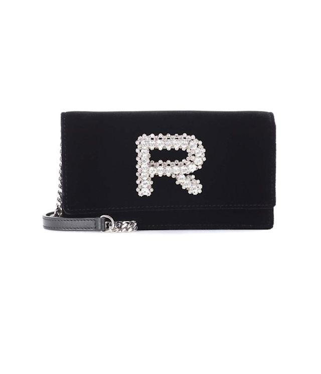 "<p>Rochas Velvet Clutch, $1,000, <a href=""https://www.mytheresa.com/en-us/rochas-exclusive-to-mytheresa-com-embellished-clutch-856546.html?utm_source=affiliate&utm_medium=polyvore.us"" rel=""nofollow noopener"" target=""_blank"" data-ylk=""slk:mytheresa.com"" class=""link rapid-noclick-resp"">mytheresa.com</a><br> (Data: Long Tall Sally, Instagram) </p>"