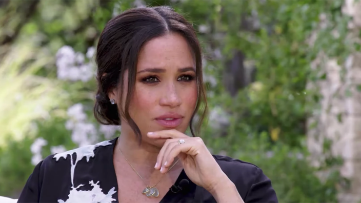 Meghan Markle in an interview with Oprah on CBS