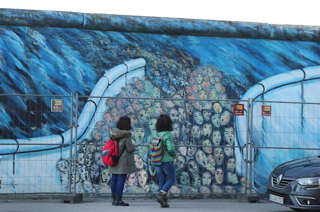 <p>No. 5: Berlin Wall<br>Location: Berlin, Germany<br>Tags: 4,595,501<br>(Photo by Sean Gallup/Getty Images) </p>