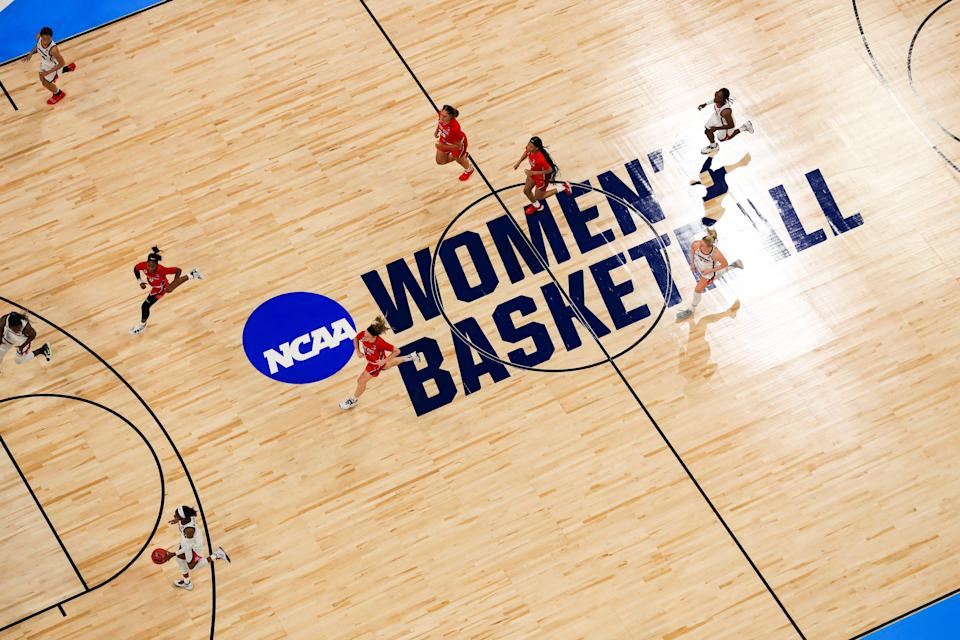 Women's basketball coaches questioned NCAA president Mark Emmert on Wednesday on addressing equity issues, including using March Madness branding for the women's tournament.