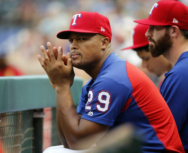 Adrián Beltré is thinking about his future after his latest hamstring injury. (AP Photo/Michael Ainsworth)