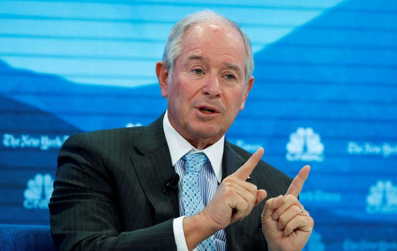 FILE PHOTO: Stephen A. Schwarzman, chairman and CEO of Blackstone, attends the World Economic Forum (WEF) annual meeting in Davos, Switzerland, January 22, 2019. REUTERS/Arnd Wiegmann/File Photo