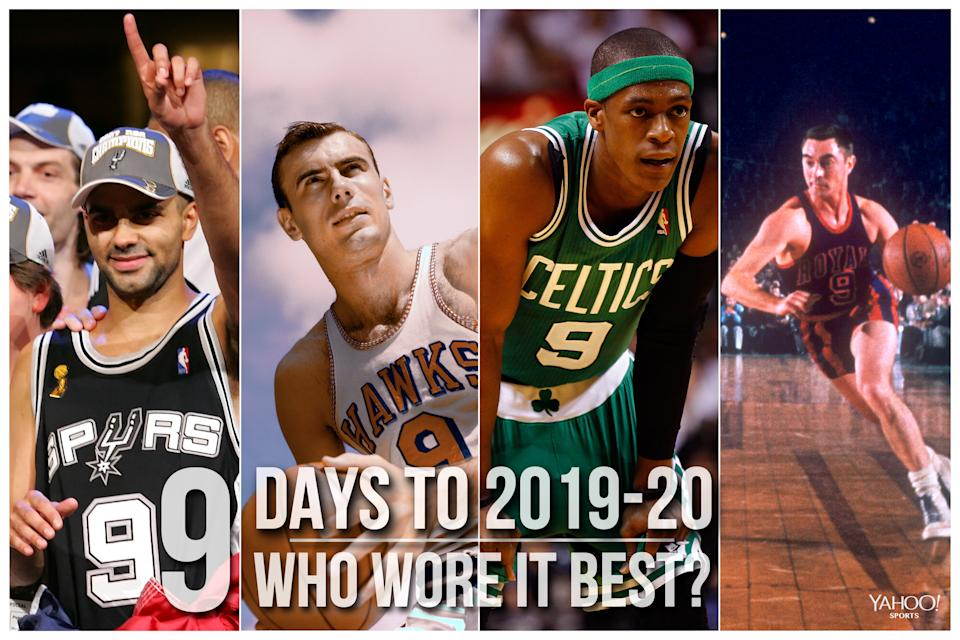 Which NBA player wore No. 9 best?