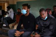 Protester Adene attends his case's hearing at Chief Magistrate Court in Yaba, Lagos