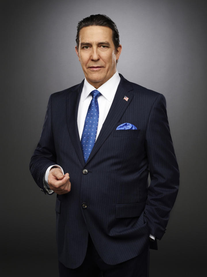 "<p class=""MsoNormal"">Irish actor Ciarán Hinds, who starred in ""Rome,"" tackles the role of Bud Hammond, a former president whose popularity drops when his cheating is exposed and his wife, Elaine, divorces him. The Southern charmer clearly likes the ladies, and the more voluptuous, the better. More than that, he desires to win back the love of Americans -- and perhaps that of his ex-wife.</p>"