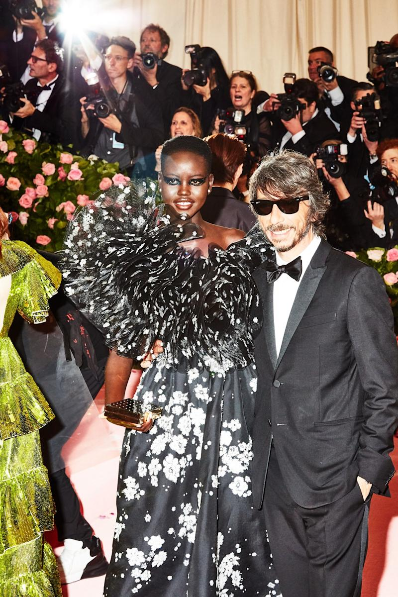 Adut Akech on the red carpet at the Met Gala in New York City on Monday, May 6th, 2019. Photograph by Amy Lombard for W Magazine.