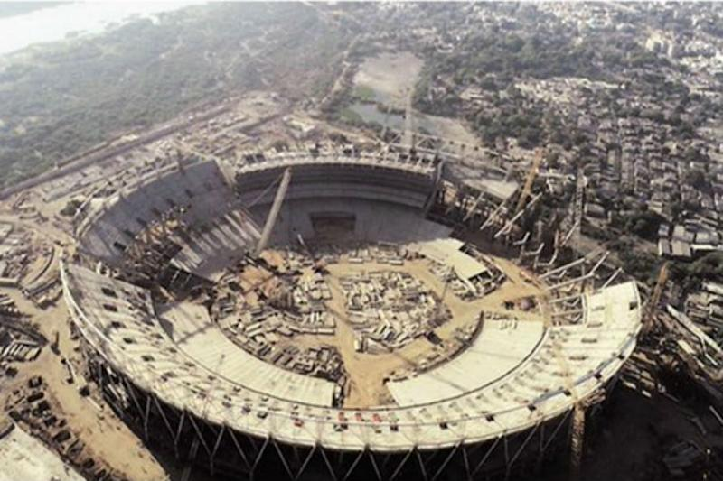 World's Biggest Cricket Stadium Takes Shape in India in Ahmedabad