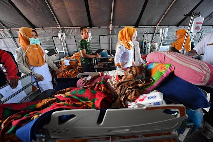 The Lombok quake has already killed 91 people with fears the toll could rise (AFP Photo/ADEK BERRY)