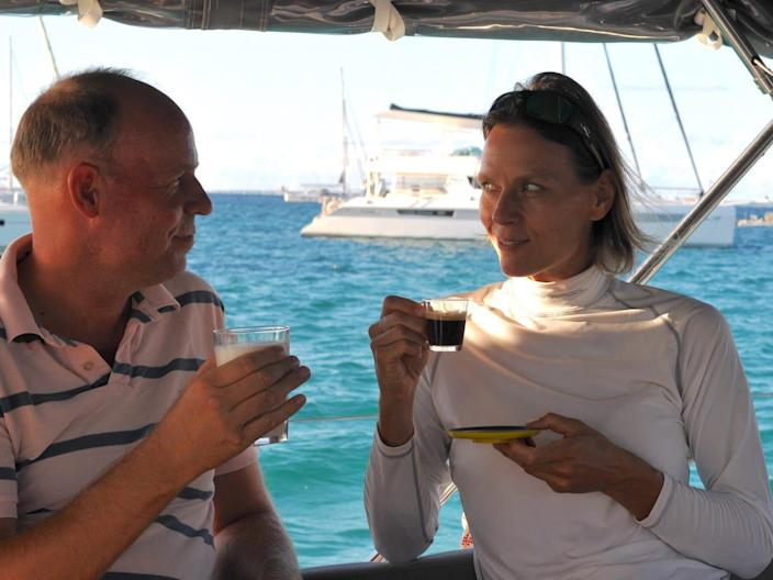 Sailing Teatime couple