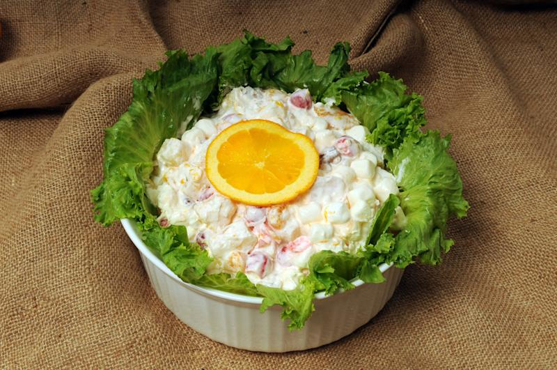 Ambrosia salad is not your typical salad.  (Modesto Bee via Getty Images)