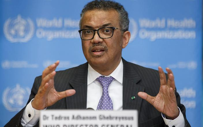 Dr Tedros also warned that just 10% of funds for an initiative to accelerate the development of vaccines, diagnostics and treatments had been committed - SALVATORE DI NOLFI/EPA-EFE/Shutterstock