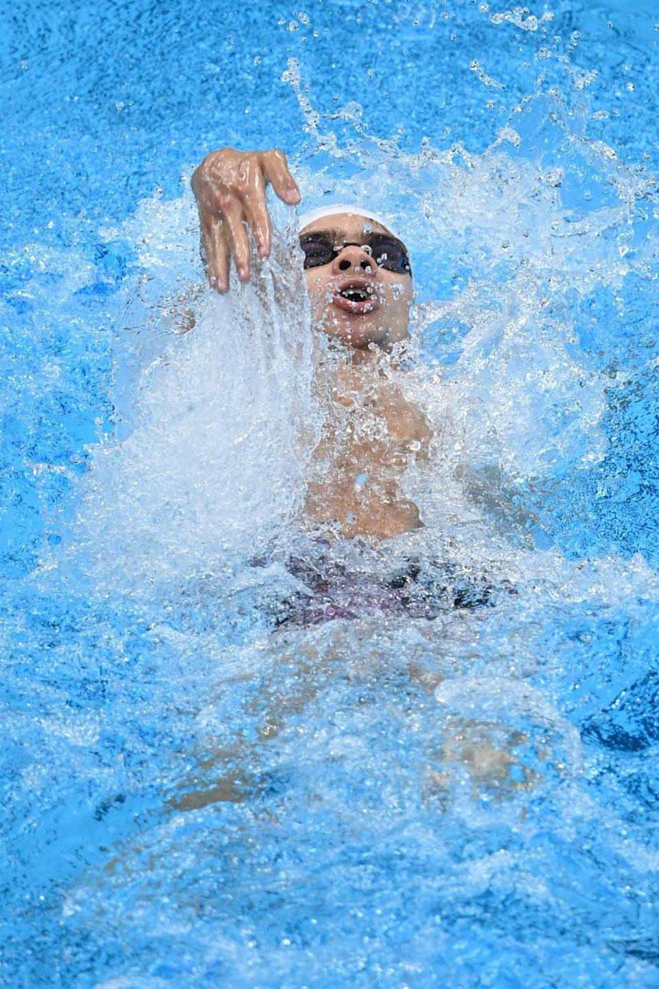 <p>The ROC's Rylov competes in the men's 200m backstroke semifinal.</p>