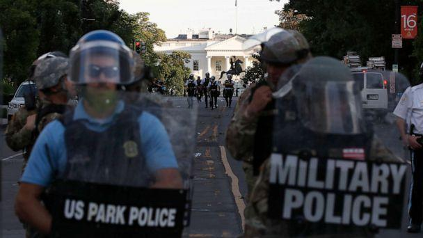 PHOTO: Police clear the area around Lafayette Park and the White House as demonstrators gather to protest the death of George Floyd, June 1, 2020, in Washington. (Alex Brandon/AP, FILE)