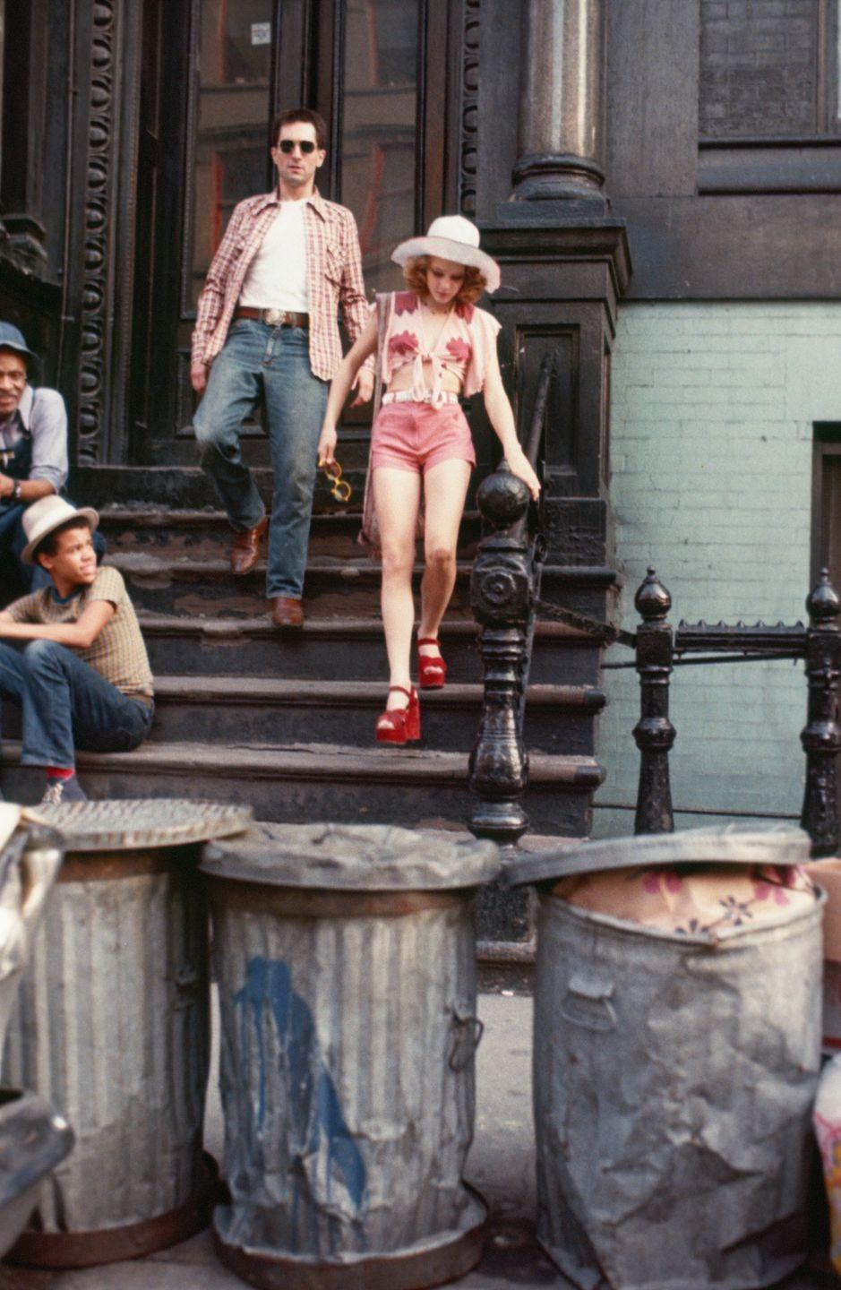 <p>Twelve-year-old actress Jodie Foster became well known for her role as Iris, a child prostitute, in <em>Taxi Driver</em>, and for her red platform sandals. </p>