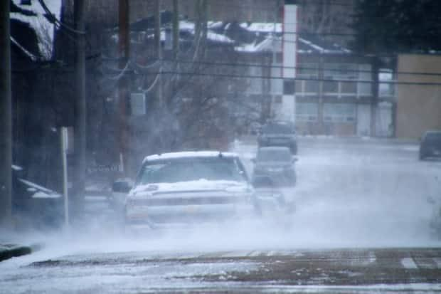 Environment Canada had said that visibility and roads could be affected by the snowfall.  (Justin Pennell/CBC - image credit)